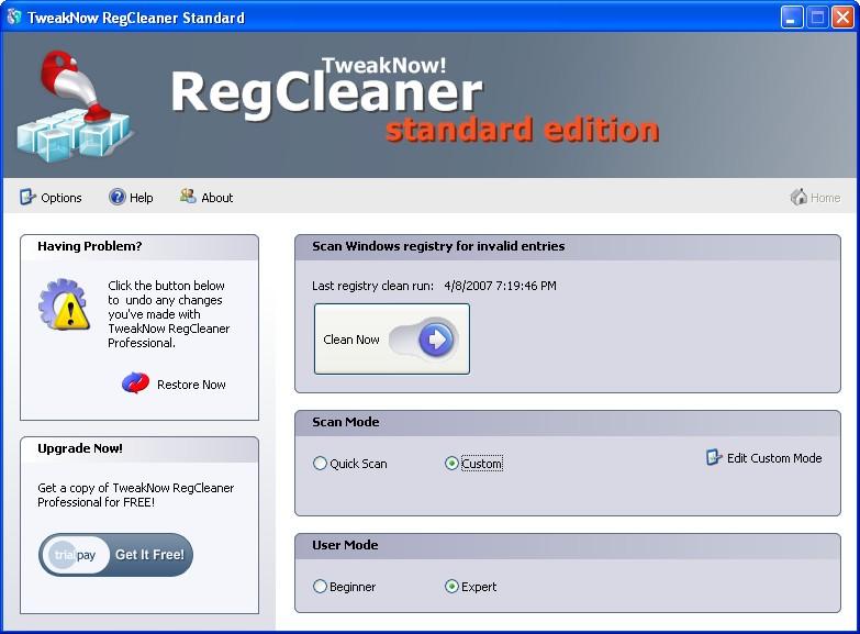 TweakNow RegCleaner - Ứng dụng dọn dẹp Registry miễn phí
