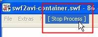 SWF2AVI screenshot - stop proess