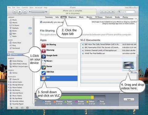 VLC sync