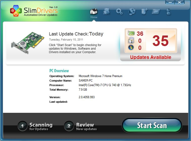 SlimDrivers-Screenshot
