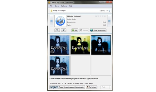 Creevity MP3 Cover Downloader: add cover art to every audio