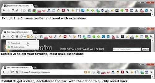Declutter Chrome toolbar screenshot2