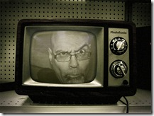 Me in b&w TV