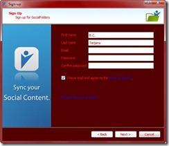 Social Folders Screen 1