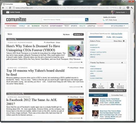 Comunitee Screenshot1