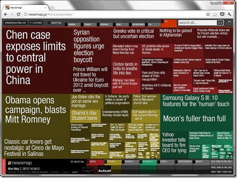 Newsmap Screenshot