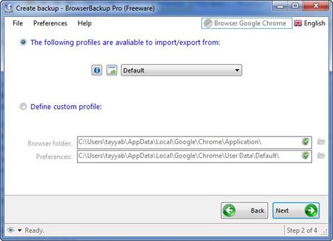 BrowserBackup 2