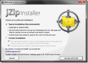 JZip custom install