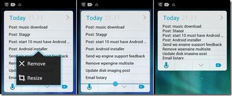 Nova Launcher widget resizing illustration