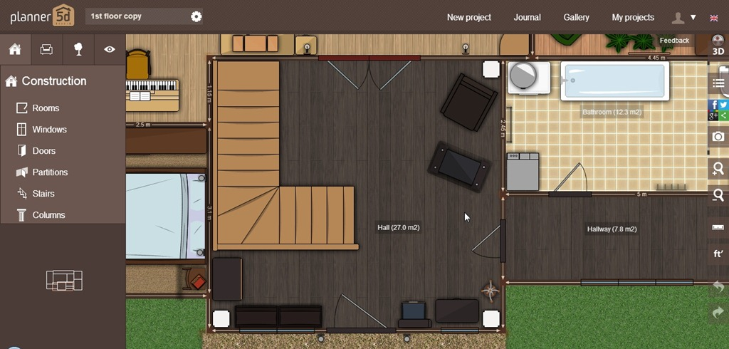 Design Floor Plans For Free With Planner 5d