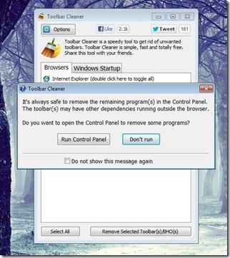 Toolbar Cleaner installer screenshot2