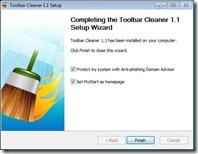 Toolbar Cleaner installer screenshot