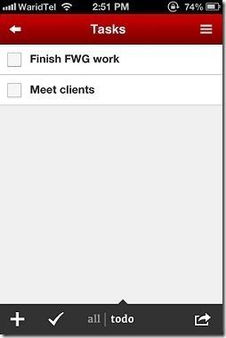 Task Paper Tasks List