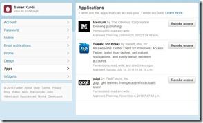 Twitter Permissions Screen