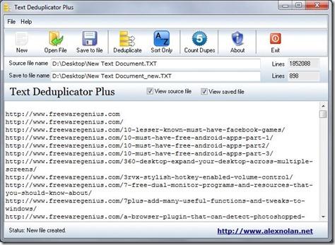 Text Deduplicator Pro Screenshot