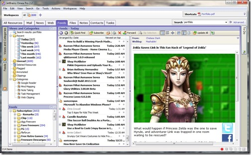 Omea Pro Screenshot