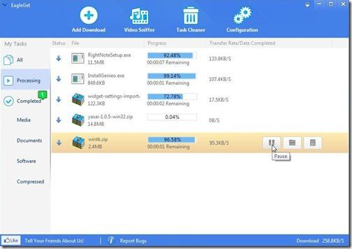 EagleGet Screenshot