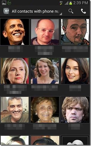 Contacts Dialer Screenshot 1