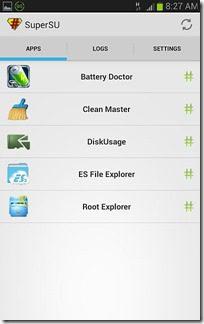 Frameroot Screenshot 5 -apps with superuser access