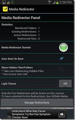 URSafe Media Redirector Screenshot 2