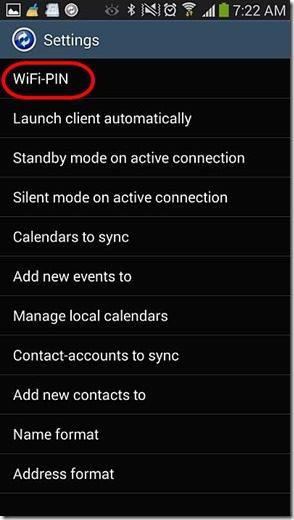 MyPhoneExplorer Android - Settings