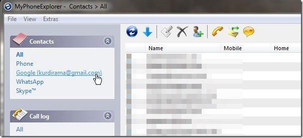 MyPhoneExplorer Screenshot6 - filter gmail